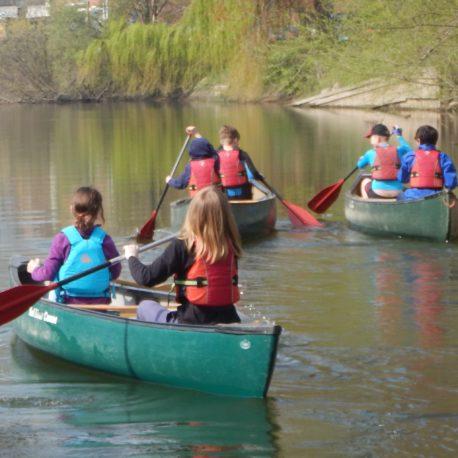 Open canoeing River Severn Shrewsbury