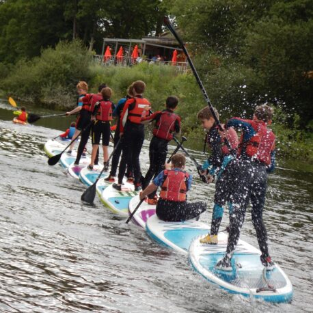 Kids Paddlesport Parties in canoe, kayak and SUP
