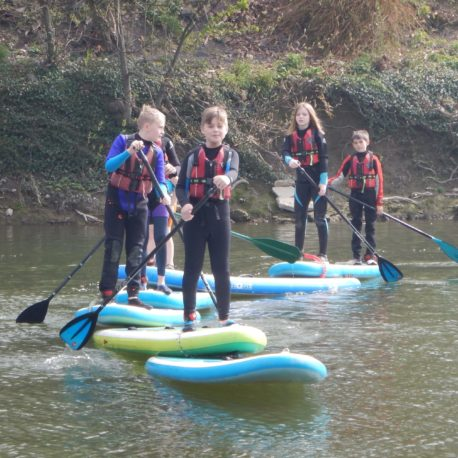Kids SUP River Severn Shrewsbury.