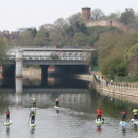SUP the loop River Severn, Shrewsbury